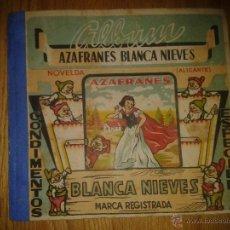 Coleccionismo Álbum: ANTIGUO ALBUM BLANCA NIEVES DE AZAFRANES BLANCA NIEVES DE NOVELDA. Lote 52337877