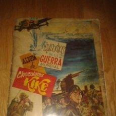 Coleccionismo Álbum: ALBUM DE CHOCOLATES KIKE EPISODIOS DE LA 2ª GUERRA MUNDIAL 1959. COMPLETO. Lote 52338813