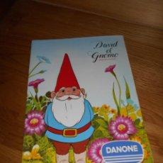 Coleccionismo Álbum: DAVID EL GNOMO COMPLETO. DANONE 1985. PERFECTO ESTADO PLANCHA CON TODOS SUS CROMOS. Lote 52961875