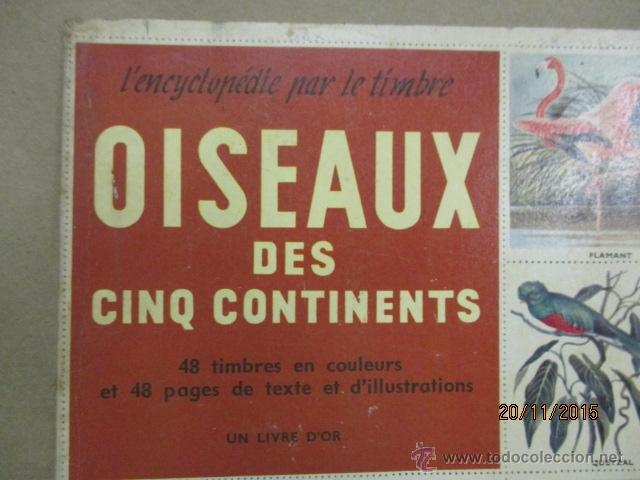 Coleccionismo Álbum: ALBUM DE CROMOS - OISEAUX - DES CINQ CONTINENTS - 1957 (VER FOTOS) - Foto 2 - 53142108
