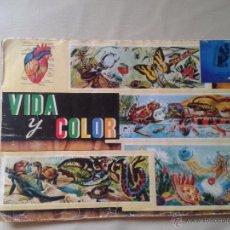 Coleccionismo Álbum: PRECIOSO ÁLBUM ,COMPLETO (VIDA Y COLOR )AÑOS 70 . Lote 53193394