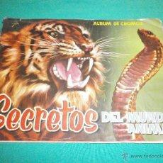 Coleccionismo Álbum: ALBUM COMPLETO EDITORIAL ROLLAN SECRETOS DEL MUNDO ANIMAL. Lote 53240133