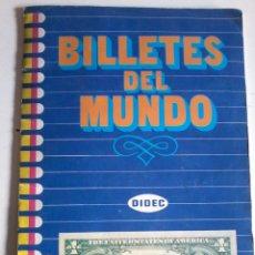 Coleccionismo Álbum: ALBUM CROMOS- BILLETES DEL MUNDO-COMPLETO. Lote 53245464