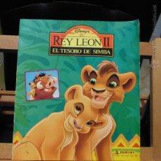 Coleccionismo Álbum: ALBUM COMPLETO: EL REY LEON II, EL TESORO DE SIMBA (PANINI, CONSERVA POSTER Y REPETIENDA) MUY DIFÍCI. Lote 53274911