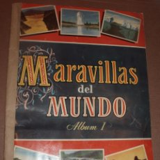 Coleccionismo Álbum: ALBUM MARAVILLAS DEL MUNDO 1 BRUGUERA COMPLETO. Lote 53305825