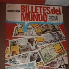 Coleccionismo Álbum: ALBUM BILLETES DEL MUNDO COMPLETO. Lote 53314626
