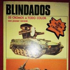 Coleccionismo Álbum: ALBUM DE CROMOS - BLINDADOS - COMPLETO - CON POSTER CENTRAL . Lote 53577724