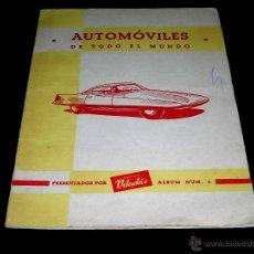 Coleccionismo Álbum: ALBUM Nº 5 AUTOMÓVILES DE TODO EL MUNDO. CHOCOLATES VILADÁS, AGRAMUNT, LÉRIDA, COMPLETO. AÑOS 50.. Lote 53761087
