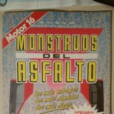Coleccionismo Álbum: ALBUM MONSTRUOS DEL ASFALTO, MOTOR 16. COMPLETO.. Lote 53849471