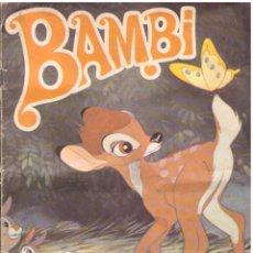 Coleccionismo Álbum: ALBUM BAMBI, FHER - SUPER COMPLETO; INCLUYE POSTER CENTRAL TAMBIEN COMPLETO. Lote 53872766