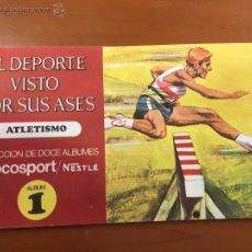 Coleccionismo Álbum: EL DEPORTE VISTO POR SUS ASES ALBUM 1 ATLETISMO COMPLETO IMPECALE. Lote 53966046