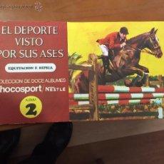 Coleccionismo Álbum: EL DEPORTE VISTO POR SUS ASES ALBUM 2 EQUITACION E HIPICA IMPECABLE COMPLETO. Lote 53966049