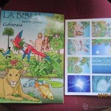 Coleccionismo Álbum: GENESIS LA BIBLIA PARA LOS JOVENES COMPLETO NUEVO 216 CROMOS EDITORIAL EL SEMBRADOR. Lote 116159703