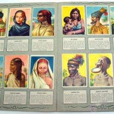 Coleccionismo Álbum: ALBUM 1955 RAZAS HUMANAS. BRUGUERA. COMPLETO 128 CROMOS ESMALTADOS. PORTUGUES. Lote 26519955