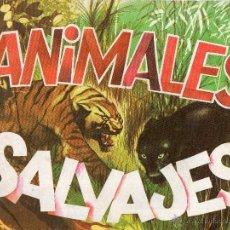 Coleccionismo Álbum: ALBUM DIFUSORA DE CULTURA ANIMALES SALVAJES COMPLETO CROMOS TROQUELADOS. Lote 180930955