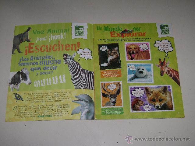 Coleccionismo Álbum: Album Animal Planet - Editorial Navarrete 2006 - 100% Completo - Foto 2 - 54835061