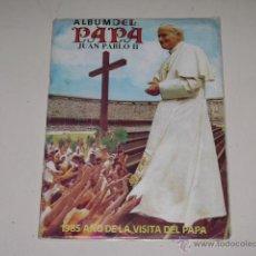 Coleccionismo Álbum: ALBUM JUAN PABLO II - EDITORIAL NAVARRETE 1985 - 100% COMPLETO. Lote 54844876