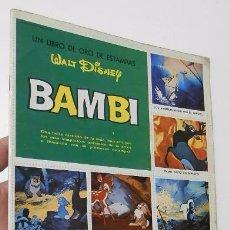 Coleccionismo Álbum: UN LIBRO DE ORO DE ESTAMPAS. WALT DISNEY. BAMBI. COMPLETO (SUSAETA, 1971). Lote 54948855