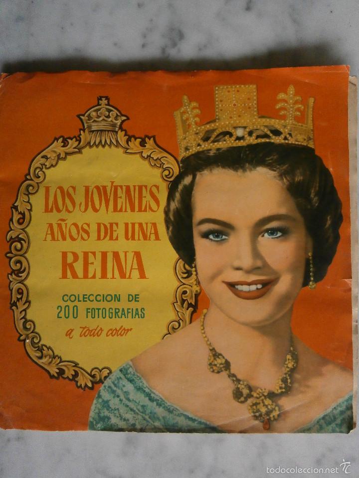 ALBUM COMPLETO, 200 CROMOS - LOS JÓVENES AÑOS DE UNA REINA - EDITORIAL BRUGUERA 1958 - (Coleccionismo - Cromos y Álbumes - Álbumes Completos)