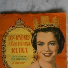 Coleccionismo Álbum: ALBUM COMPLETO, 200 CROMOS - LOS JÓVENES AÑOS DE UNA REINA - EDITORIAL BRUGUERA 1958 -. Lote 55102991