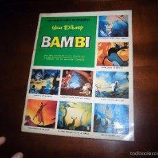 Coleccionismo Álbum: BAMBI.-UN NUEVO LIBRO DE ESTAMPAS WALT DISNEY .-COMPLETO SUSAETA 1971. Lote 55208692