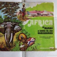 Coleccionismo Álbum: VENDO ALBUM AFRICA -RAM- COMPLETO 76 CROMOS Y 41 BANDERAS. Lote 55713326