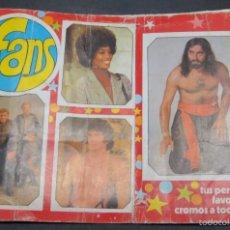 Coleccionismo Álbum: ÁLBUM COMPLETO FANS 182 CROMOS . Lote 56041505