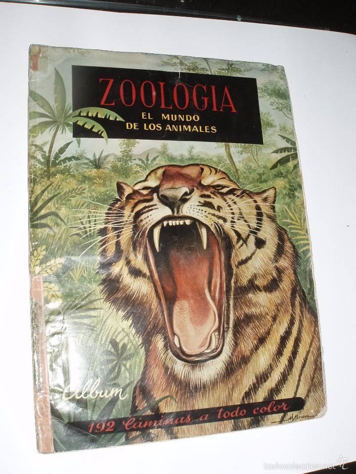 ALBUM COMPLETO ZOOLOGIA EL MUNDO DE LOS ANIMALES FERCA (Coleccionismo - Cromos y Álbumes - Álbumes Completos)