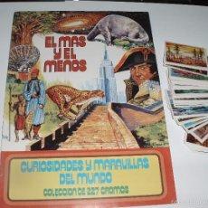 Coleccionismo Álbum: ALBUM NUEVO VACIO EL MAS Y EL MENOS RUIZ ROMERO CASI COMPLETA, CROMOS NUEVOS PARA PEGAR. Lote 76834915