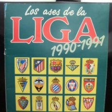 Coleccionismo Álbum: ALBUM DE CROMOS LOS ASES DE LA LIGA 90-91 COMPLETO. Lote 56119689