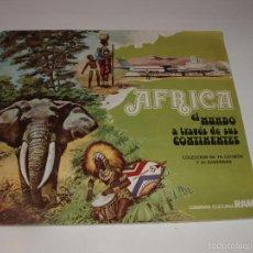 Coleccionismo Álbum: ALBUM AFRICA DE LECHE RAM COMPLETO. Lote 56292974