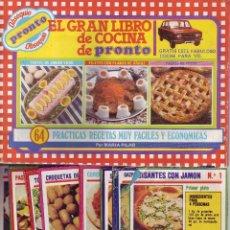 Coleccionismo Álbum: PRONTO - EL GRAN LIBRO DE COCINA - ÁLBUM COMPLETO. Lote 56519786