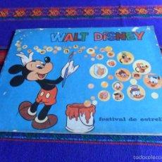 Coleccionismo Álbum: WALT DISNEY FESTIVAL DE ESTRELLAS COMPLETO 96 CROMOS. BAZOOKA TOOPS. RARO.. Lote 56635546