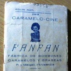 Coleccionismo Álbum: ANTIGUO DIFÍCIL ALBUM CROMOS ACTORES ESTRELLAS DE CINE CARAMELO - CINE FAN FAN , VALENCIA 1926. Lote 57094607