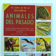 Coleccionismo Álbum: UN LIBRO DE ORO DE ESTAMPAS. ANIMALES DEL PASADO (COMPLETO). EDITORIAL NOVARO. MEXICO 1958. Nº 18.. Lote 57283417