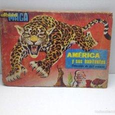 Coleccionismo Álbum: ALBUM MAGA COMPLETO AMERICA Y SUS HABITANTES 252 CROMOS 1968. Lote 57545478
