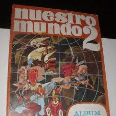 Coleccionismo Álbum: ALBUM NUESTRO MUNDO 2 COMPLETO INCLUSO CROMOS RECORTABLES BIMBO AÑOS 60. Lote 57554076