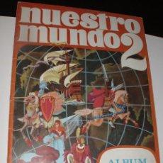 Coleccionismo Álbum: ALBUM NUESTRO MUNDO 2 BIMBO AÑOS 60 COMPLETO CON TODOS LOS CROMOS RECORTABLES. Lote 57554505