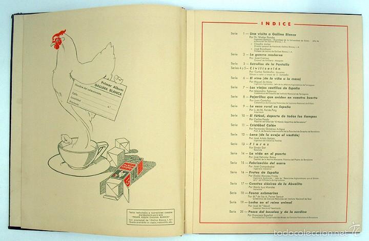 Coleccionismo Álbum: album 1944 Gallina Blanca 1er album. Buen estado.Ver fotos. Futbol, cine, animales, castillos, Colon - Foto 3 - 58207922
