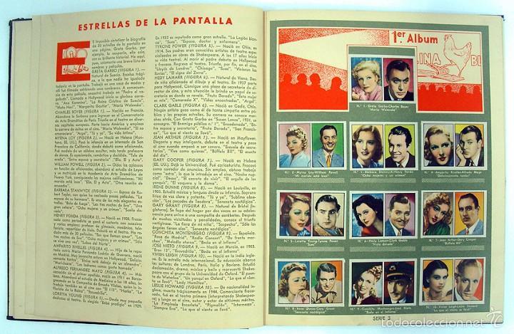 Coleccionismo Álbum: album 1944 Gallina Blanca 1er album. Buen estado.Ver fotos. Futbol, cine, animales, castillos, Colon - Foto 5 - 58207922