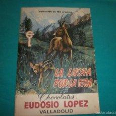 Coleccionismo Álbum: ALBUM COMPLETO LA LUCHA POR LA VIDA CHOCOLATES EUDOSIO LOPEZ VALLADOLID 162 CROMOS AÑO 1962. Lote 57832144