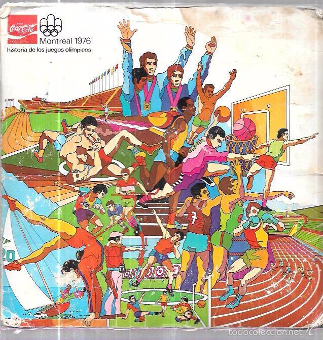 ÁLBUM COCA COLA,MONTREAL 1976,ORIGINAL Y COMPLETO,,VER LAS FOTOS (Coleccionismo - Cromos y Álbumes - Álbumes Completos)