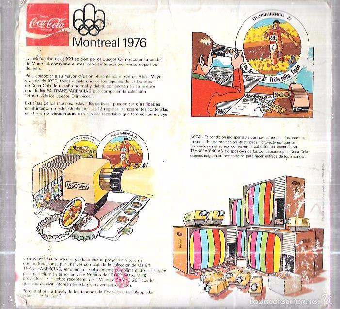 Coleccionismo Álbum: Álbum coca cola,Montreal 1976,original y completo,,ver las fotos - Foto 2 - 58169209