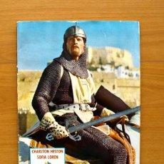 Coleccionismo Álbum: EL CID - CHARLTON HESTON Y SOFIA LOREN - COMPLETO - EDITORIAL FHER 1962, VER FOTOS INTERIORES. Lote 58176472