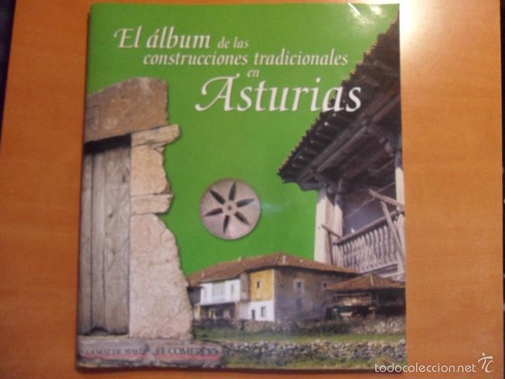 EL ALBUM DE LAS CONSTRUCCIONES TRADICIONALES EN ASTURIAS. ALBUM DE CROMOS COMPLETO. LA VOZ DE AVILES (Coleccionismo - Cromos y Álbumes - Álbumes Completos)