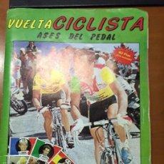 Coleccionismo Álbum: VUELTA CICLISTA ASES DEL PEDAL COMPLETO BUEN ESTADO. Lote 58198595