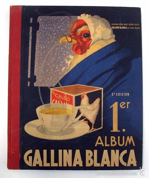 ALBUM 1944 GALLINA BLANCA 1ER ALBUM. BUEN ESTADO.VER FOTOS. FUTBOL, CINE, ANIMALES, CASTILLOS, COLON (Coleccionismo - Cromos y Álbumes - Álbumes Completos)