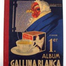 Coleccionismo Álbum: ALBUM 1944 GALLINA BLANCA 1ER ALBUM. BUEN ESTADO.VER FOTOS. FUTBOL, CINE, ANIMALES, CASTILLOS, COLON. Lote 58207922