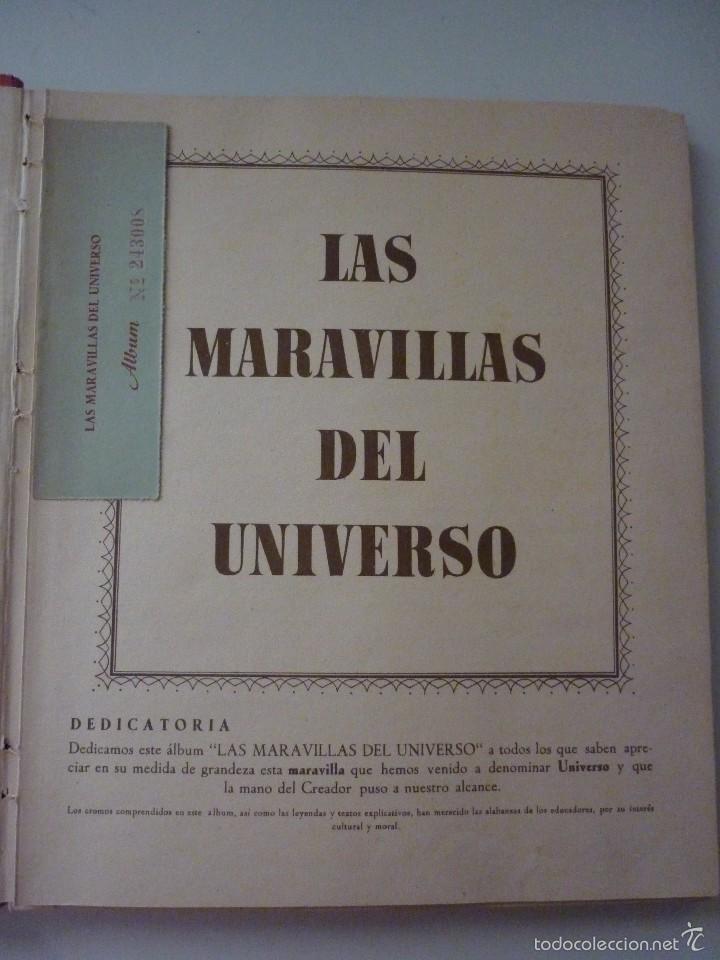 Coleccionismo Álbum: NESTLE LAS MARAVILLAS DEL UNIVERSO. COMPLETO - Foto 2 - 58224385