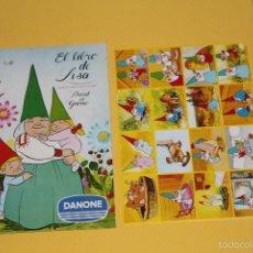 Coleccionismo Álbum: ALBUM COMPLETO PLANCHA - DAVID EL GNOMO- CONTIENE TODOS SUS CROMOS SIN PEGAR. Lote 220946151